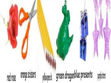 rosa tijeras lápices dragón presenta estrellas - lmnopqrstuvwxyzlmnop