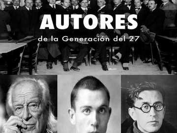 Szerzők generációja 27-ből - a 27 Rafael Albert, Emilio Prados és Miguel Hernández generációjának szerzői.