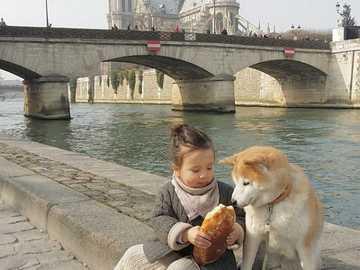Menina com seu animal de estimação - Linda garota com seu animal de estimação