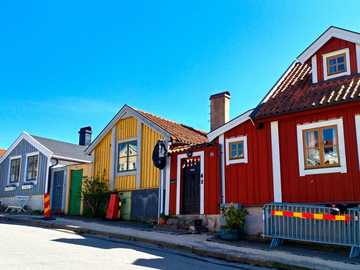 wooden houses in Karlskrona - m ............................
