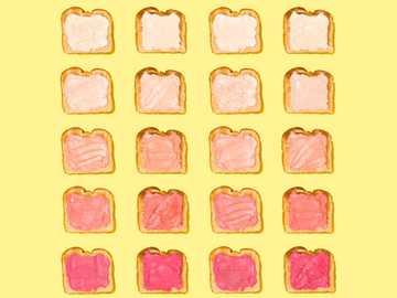 Ombré Toast - pagnotta di pullman con ripieno.