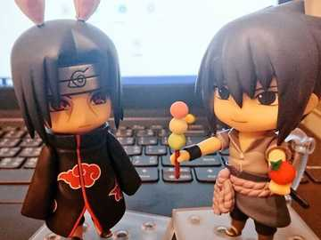 Itachi rabbit and Sasuke - Itachi Rabbit and Sasuke offering a dango to his brother