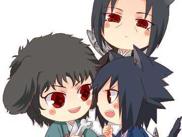 Itachi, Shisui and Sasuke - Itachi wonders what Shisui and Sasuke are up to