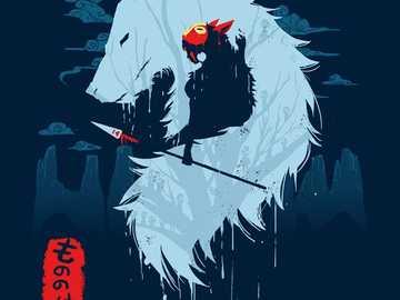 mononoke - Mononoke con el lobo Moro