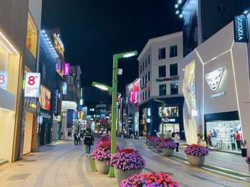 street at night - colorful street at night
