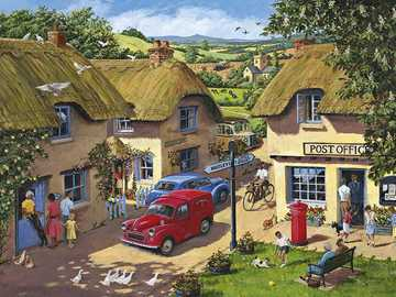 Country village - Puzzle. Country village