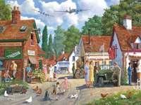 Country Village - Puzzle. Wieś wiejska