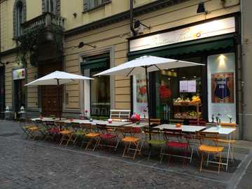 Turin downtown street cafe - Turin downtown street cafe