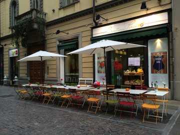 Turin Innenstadt Strassencafe - Turin Innenstadt Strassencafe