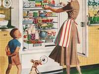 Kuchnia Vintage - Puzzle. Kuchnia w stylu vintage