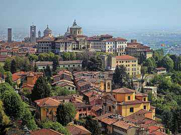 Bergamo Stadtpanorama Lombardei Italien - Bergamo Stadtpanorama Lombardei Italien