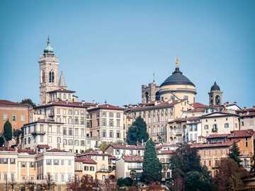 Blick auf Bergamo Lombardei - Blick auf Bergamo Lombardei