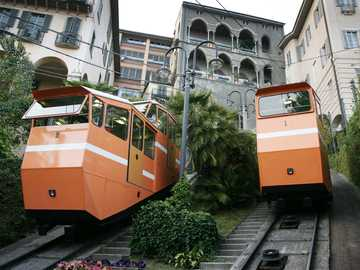 Bergamo city cable car Lombardy - Bergamo city cable car Lombardy