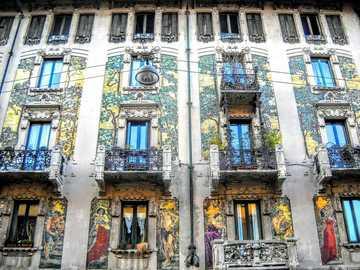 Mailand kunstvoll bemalte Hausfassaden - Mailand kunstvoll bemalte Hausfassaden