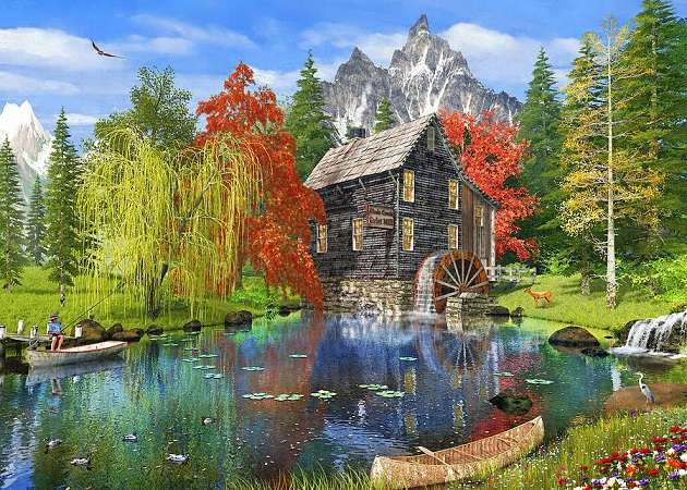 << In the mountains >> - Landscape puzzle.