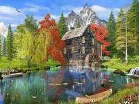 << In montagna >> - Puzzle di paesaggio.