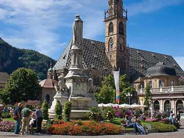 Centrum miasta Bolzano w Południowym Tyrolu - Centrum miasta Bolzano w Południowym Tyrolu