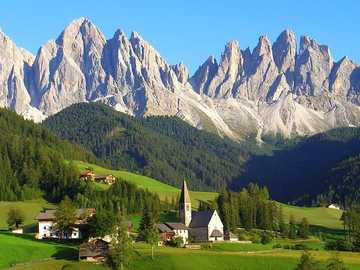 Small village in the Dolomites of South Tyrol - Small village in the Dolomites of South Tyrol