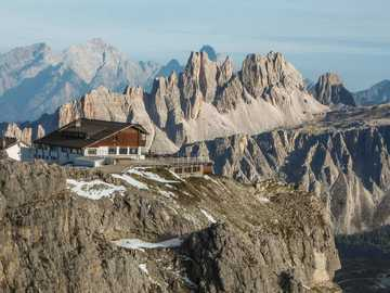 House on the heights in the Dolomites of South Tyrol - House on the heights in the Dolomites of South Tyrol