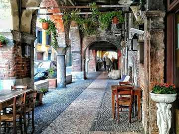 Verona downtown arcades region of Veneto - Verona downtown arcades region of Veneto