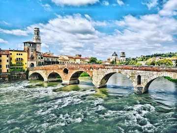 Verona bridge over the river Veneto region - Verona bridge over the river Veneto region