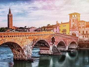 Verona bridge over the river - Verona bridge over the river