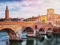 Verona Brücke über den Fluss