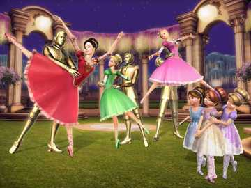 Barbie and the 12 Dancing Princesses - General Summary Twelve princesses, whose names (from oldest to youngest) begin with the next letter