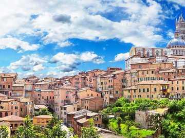 Siena city view Tuscany region - Siena city view Tuscany region