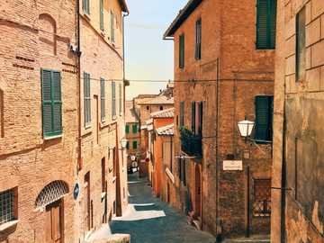 Siena old town area Tuscany - Siena old town area Tuscany