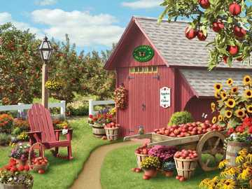 Apple Harvest - Puzzle. Apple harvest