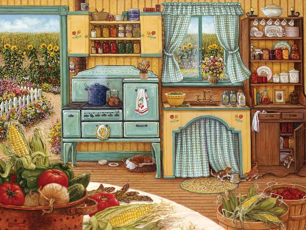 Country Kitchen - Puzzle. Country kitchen
