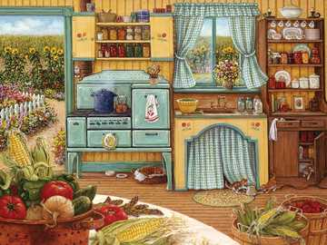 Landhausküche - Puzzle. Landhausküche