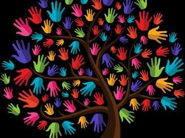 Copacul prieteniei - copac, culori ,prieteni,