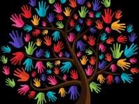 Дървото на приятелството - дърво цветове приятели