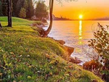 Sunset. - Landscape puzzle.