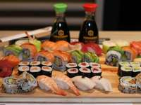 Sushi-Tablett