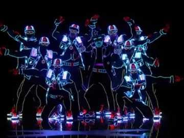 "Neonový tanec - Toto je skvělé video s názvem ""získejte talentový neonový tanec"""