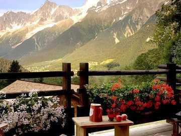 Blick von den Bergen in Frankreich - Blick von den Bergen in Frankreich