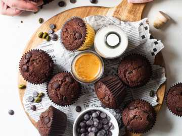 Chocolate muffins - Double chocolate muffins for breakfast