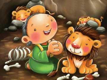 Daniel und die Löwen - Es ist die Geschichte von Daniel, als König DARIO ihn in die Höhle der Löwen schickte, um Gott zu