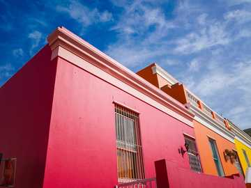 OCD Cleanse - red and white concrete building under blue sky during daytime. Bo-Kaap, Schotsche Kloof, Cape Town,