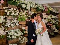 Wedding with flowers - Decoration with flowers for a wedding