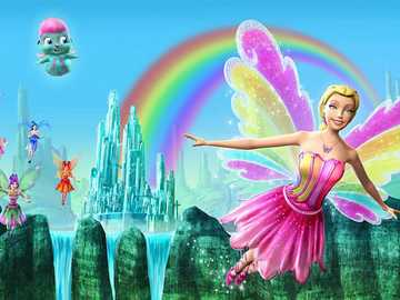 Barbie i magia tęczy - Fabuła Bajka opowiada kolejną część przygód wróżki Eliny. Tym razem Elinę odwiedza Azura ab