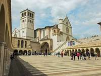 Kathedraal van Assisi Umbrië Italië - Kathedraal van Assisi van San Francesco. Kathedraal van Assisi Umbrië Italië.