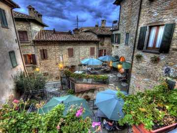 Montone város Umbria-ban - Montone város Umbria-ban