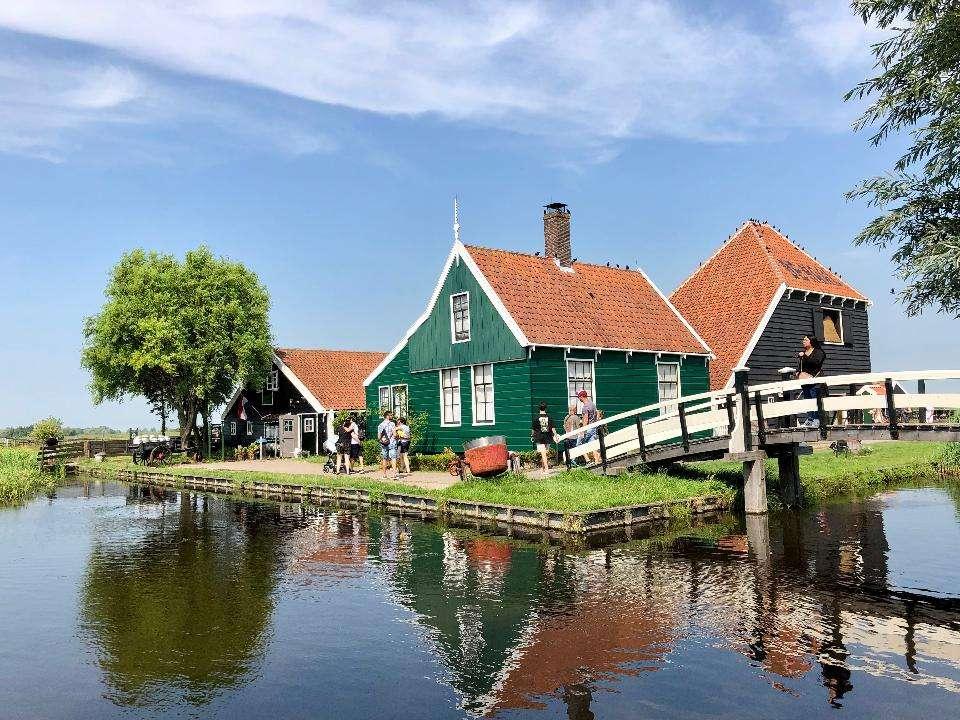 ház Hollandiában - táj Hollandia vidékén (13×10)