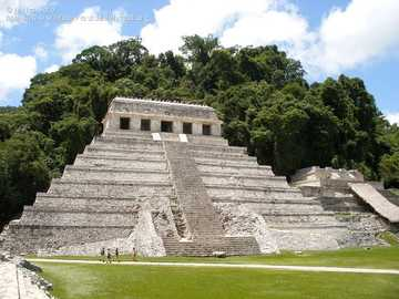 Chiapas archaeological zone - Temple of the Inscriptions in Palenque Chiapas