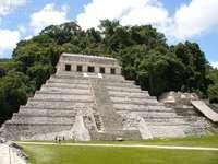 Zona archeologica del Chiapas - Tempio delle iscrizioni a Palenque Chiapas