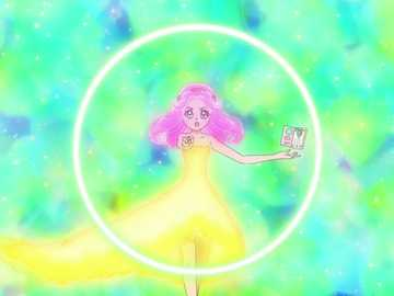 Cure Up Rapapa! Emerald! Felice Fan Fan Flowery! - 第十三 部 魔法 使 光 之 美 少女 , 打開 波紋 智慧 書 , 將 波紋 綠 寶石 �